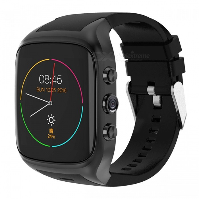 X02S 1.54 Android 5.1 Smart Watch with 512M RAM, 8GB ROM, Call, HD Camera - BlackSmart Watches<br>Form  ColorBlackModelX02SQuantity1 DX.PCM.Model.AttributeModel.UnitMaterialPlastic + Stainless steelShade Of ColorBlackCPU ProcessorMT6580 Cortex A7  1.3GHzScreen Size1.54 DX.PCM.Model.AttributeModel.UnitScreen Resolution320 x 320Touch Screen TypeYesNetwork Type3GCellularWCDMASIM Card TypeMicro SIMBluetooth VersionBluetooth V4.0Operating SystemAndroid 5.1Compatible OSwindows 7/8/10LanguageEnglishWristband Length26.2 DX.PCM.Model.AttributeModel.UnitWater-proofYesBattery ModeNon-removableBattery TypeLi-polymer batteryBattery Capacity600 DX.PCM.Model.AttributeModel.UnitStandby Time5-6 DX.PCM.Model.AttributeModel.UnitOther FeaturesWCDMA 850/2100;<br>GSM 850/900/1800/1900;<br>WIFI 802.11b/g/n;Packing List1 x Watch1 x Manual1 x Charging line<br>