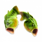 Creative Unique Soft Rubber Imitation Green Fish Slipper - XXL (43-42)
