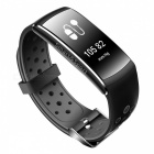 Z11 Waterproof Smart Bluetooth Sports Wristband Bracelet with Caller ID Alert, Heart Rate Monitor - Black