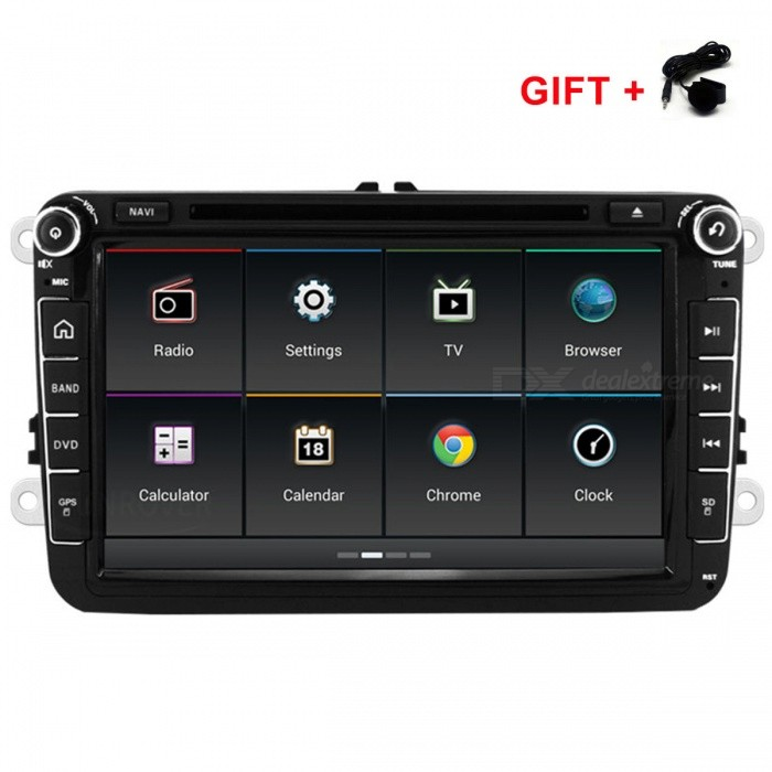 Funrover 8 1024*600 Android 6.0 OEM Car DVD Player w/ GPS Auto Radio RDS for VW Golf Polo Jetta Skoda Seat CarsCar DVD Players<br>Form  Color8 inch VW Android Quad-Core NavigationModelFV0018Quantity1 pieceMaterialABS + MetalStyle2 Din In-DashFunctionOthers,Canbus wifi 4G Network Steering Wheel ControlCompatible MakeOthers,vw volkswagen skoda SeatCompatible Car ModelVW/SAGITAR/JATTA/JETTA/MAGOTAN/MAGOTAN V6/PASSAT B/PASSAT V6/MAGOTAN VARIANT/PASSAT B7/PASSAT NMS/PASSAT Variant/PASSAT CC/PASSAT TSI/TOURAN/GOLF V/GOLF VI/GOLF VARIANT/TIGUAN / TIGUAN GP/SHARAN/CADDY/POLO/EOS/SCIROCCO/T5/TRANSPORTER/R36 VARIANT/BEETLE/MULTZVAN/GOLF CROSS/GOLF BLUE MOTION/SPORTLINE/BORA/AMAROK<br>Skoda Fabia Limousine ab 02/2007 bis 2012/Fabia Combi ab 04/2007 bis 2012/Praktic ab 04/2007 bis 2012/Roomster ab 04/2006 bis 2012/Octavia Combi 06/2004 bis Facelift/Octavia Limousine ab 06/2004 bis Facelift/Octavia II 2&amp; III3/Yeti ab 2009 bis 2012/Superb 3 T ab 2008 bis 2012<br>Seat Altea ab 05/2004/Toledo ab 12/2004/Leon ab 09/2005/Altea XL ab 04/2007/Alhambra ab 2010Compatible YearOthers,2000-Screen SizeOthers,8Screen Resolution1024*600Touch Screen TypeYesDetachable PanelNoBrightness ControlYesMenu LanguageOthers,Multi-languageCPU ProcessorQuad-Core 1.6GHzSupport MapIGO,Route66,TOMTOM,Garmin,Sygic,CarelandMain FrequencyOthers,1.6 GHzStore CapacityOthers,16 GBMemory Card SlotStandard TF CardVoice Guidance CruiseYesGPS Dual ZoneNoOperating SystemOthers,Android 6.0Audio FormatsMP3,WMA,APE,FLAC,OGG,AC3,DTS,AACVideo FormatsOthers,formatPicture FormatsJPEG,BMP,PNG,GIF,TIFF,jps(3D),mpo(3D),Others,TGGA PCXSupport RDSfor European countriesRadio TunerAM,FMRadio Response BandwidthAM: 520KHz-1700KHz,FM: 87MHz-110MHzStation Preset Qty.60RDSYesBuilt-in MicrophoneYesBluetooth FunctionReceived Call,Dialled Call,Missed CallBluetooth VersionBluetooth V3.0Amplifier Peak Power45 WAudio ModeNatural,Rock,Jazz,Classical,Live,Dancing,PopularInterface PortUSBAudio Input2 channelsAudio  Output4 channelsRearview Camera InputYesExternal Memory Max. Support32 GBVideo Input2 channelsVideo Output2 channelsWorking Voltage   10.8~14.4 VWorking Temperature-30~+80 ?Storage Temperature-40~+80COther FeaturesSNR: 65±5dBCertificationCEPacking List1 x Car DVD player2 x RCA cables (15cm)1 x GPS antenna (300cm)1 x OEM USB cable (100cm)1 x Backup camera video cable (15cm)1 x Wi-Fi antenna (5cm)1 x 4G / DVR USB cable(100cm)1 x 4 Pin RCA cable (3cm low matched car use only)1 x Extra Microphone (300cm)<br>