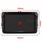 "Funrover 8"" 1024*600 Android 6.0 OEM Car DVD Player w/ GPS Auto Radio RDS for VW Golf Polo Jetta Skoda Seat Cars"