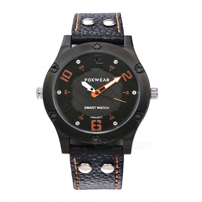 F28-1 IP68 Waterproof USB Rechargeable 1.3 Smart Bluetooth Quartz Watch - BlackSmart Watches<br>Form  ColorBlackModelF28-1Quantity1 DX.PCM.Model.AttributeModel.UnitMaterialZinc alloy shellShade Of ColorBlackCPU ProcessorIS1621S+DA14580Screen Size1.3 DX.PCM.Model.AttributeModel.UnitScreen ResolutionNOTouch Screen TypeNoNetwork TypeOthers,NOBluetooth VersionBluetooth V4.0Compatible OSAndroid and Apple systemsLanguageChinese, EnglishWristband Length26.5 DX.PCM.Model.AttributeModel.UnitWater-proofIP68Battery ModeNon-removableBattery Type26650Battery Capacity360 DX.PCM.Model.AttributeModel.UnitStandby Time15 DX.PCM.Model.AttributeModel.UnitPacking List1 x Smart Watch1 x Specification1 x Data Cable<br>