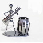 Music Iron Man Model Pen Holder, Metal Crafts for Decoration, Student Birthday Gift