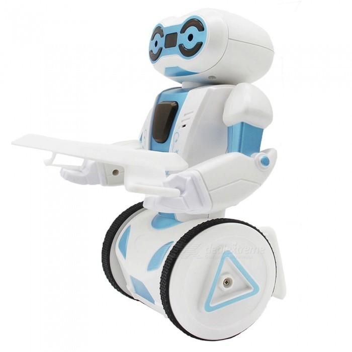 Multi-function 2.4Ghz Self-Balance Smart Remote Control Stunt Robot Toy for Kids - WhiteR/C Robots &amp; Animals<br>Form  ColorWhiteMaterialABSQuantity1 setShade Of ColorWhiteChannels Quanlity4 channelFunctionLeft,Right,Forward,Backward,StopRemote control frequency2.4GHzRemote Control Range15 mSuitable Age 8-11 years,12-15 years,Grown upsCameraNoLamp YesBattery TypeLi-ion batteryBattery Capacity400 mAhCharging Time50-60 minutesWorking Time25-30 minutesRemote Control TypeWirelessModelOthers,5 modesRemote Controller Battery TypeAARemote Controller Battery Number2 (not included)Packing List1 x Robot1 x Charging Cable1 x Remote Controller1 x Tray1 x Instruction<br>