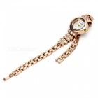 Chaoyada 1145 Rhinestone Bracelet Women's Quartz Watch - Rose Gold