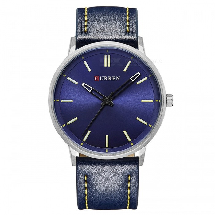 CURREN 8233 Mens Simple Cool Round Quartz Watch - Dark BlueQuartz Watches<br>Form  ColorSapphire BlueModel8233Quantity1 DX.PCM.Model.AttributeModel.UnitShade Of ColorBlueCasing MaterialAlloyWristband Material-Suitable forAdultsGenderUnisexStyleWrist WatchTypeFashion watchesDisplayAnalogBacklightnoMovementQuartzDisplay Format12 hour formatWater ResistantFor daily wear. Suitable for everyday use. Wearable while water is being splashed but not under any pressure.Dial Diameter4.4 DX.PCM.Model.AttributeModel.UnitDial Thickness0.5 DX.PCM.Model.AttributeModel.UnitWristband Length25 DX.PCM.Model.AttributeModel.UnitBand Width2 DX.PCM.Model.AttributeModel.UnitBattery626Packing List1 x Watch<br>
