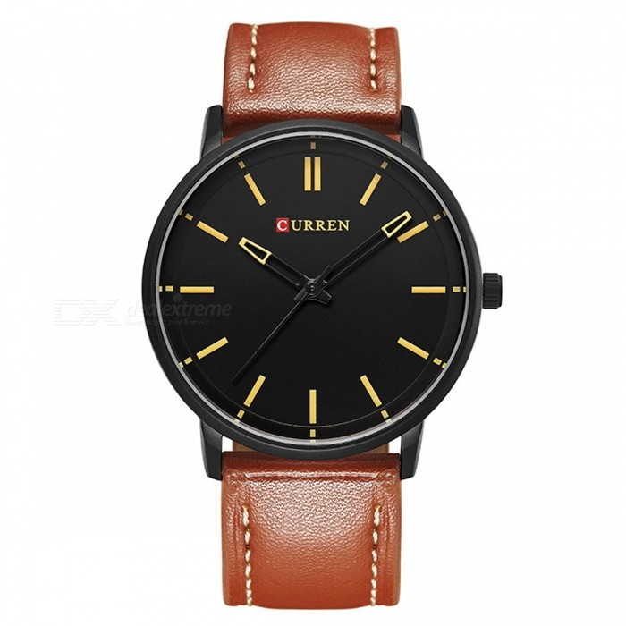 CURREN 8233 Mens Simple Cool Round Quartz Watch - Black + OrangeQuartz Watches<br>Form  ColorOrange + Black + Multi-ColoredModel8233Quantity1 DX.PCM.Model.AttributeModel.UnitShade Of ColorOrangeCasing MaterialAlloyWristband Material-Suitable forAdultsGenderUnisexStyleWrist WatchTypeFashion watchesDisplayAnalogBacklightnoMovementQuartzDisplay Format12 hour formatWater ResistantFor daily wear. Suitable for everyday use. Wearable while water is being splashed but not under any pressure.Dial Diameter4.4 DX.PCM.Model.AttributeModel.UnitDial Thickness0.5 DX.PCM.Model.AttributeModel.UnitWristband Length25 DX.PCM.Model.AttributeModel.UnitBand Width2 DX.PCM.Model.AttributeModel.UnitBattery626Packing List1 x Watch<br>