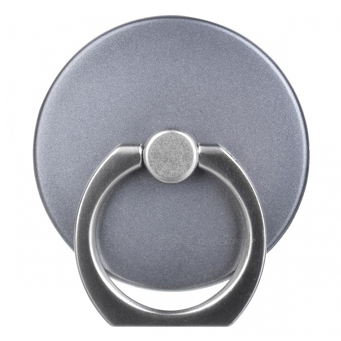 360 Degree Rotation Metal Finger Ring Holder for Cell Phones, Tablet PC - Dark Gray