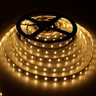 ZHAOYAO Non-Waterproof 144W DC 12V 10m 5630SMD-600LEDs Warm White LED Strip Light with 10A EU Plug Charger + DC Connector