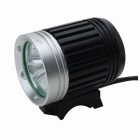 ZHISHUNJIA B30 T6 3-LED 3-Mode Cold White Bike Light Headlamp - Black