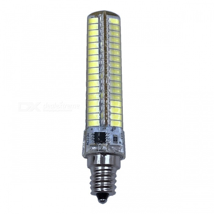ZHAOYAO E12 7W AC 220-240V 5730 SMD 136-LED Dimmable Light Bulb - WhiteOther Connector Bulbs<br>Color BINE12-Cold White ModelE12-WMaterialPCBForm  ColorWhiteQuantity1 setPower7WRated VoltageAC 220-240 VConnector TypeOthers,E12Chip BrandOthers,LEDChip Type5730Emitter TypeOthers,5730SMD LEDTotal Emitters136Actual Lumens0-700 lumensColor Temperature6000KDimmableYesBeam Angle360 °Other Features5500-7000KPacking List1 x LED Bulb<br>
