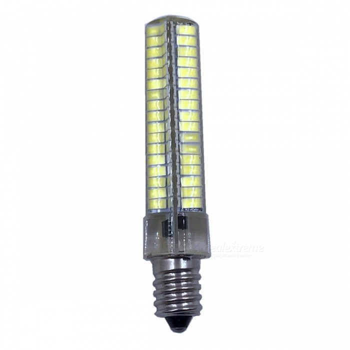 ZHAOYAO E14 7W AC 220-240V 5730 SMD 136-LED Dimmable Light Bulb - WhiteOther Connector Bulbs<br>Color BINE14-Cold White ModelE14-WMaterialPCBForm  ColorWhiteQuantity1 setPower7WRated VoltageAC 220-240 VConnector TypeE14Chip BrandOthers,LEDChip Type5730Emitter TypeOthers,5730SMD LEDTotal Emitters136Actual Lumens0-700 lumensColor Temperature6000KDimmableYesBeam Angle360 °Other Features5500-7000KPacking List1 x LED Bulb<br>
