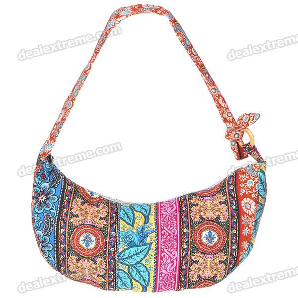 Charming Flowers Shoulder Hand Bag (105CM-Strap)