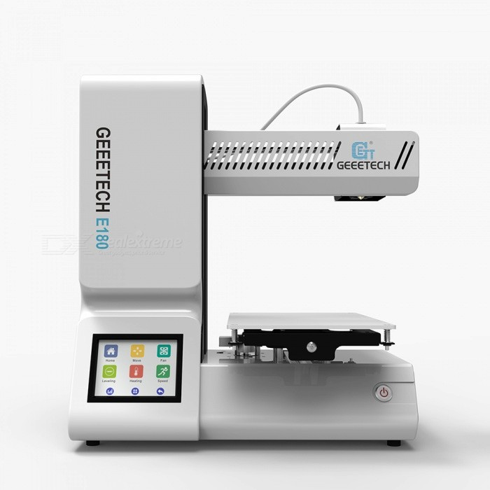 Geeetech E180 Mini 3D Printer, Supports Phone APP Remote Control - White3D Printers, 3D Printer Kits<br>Form  ColorWhiteModelE180 miniQuantity1 setMaterialPlasticEnglish Manual / SpecNoDownload Link   http://www.geeetech.com/Documents/E180%20User%20Manual%20.pdfPacking List1 x E180 Mini 3D Printer<br>