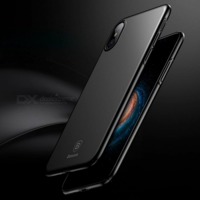 Baseus Ultra Thin Luxury Smooth Hard PC Phone Case for IPHONE X - Black