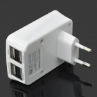 4-Port 500mA USB Power Adapter/Charger (100~240V/EU Plug)