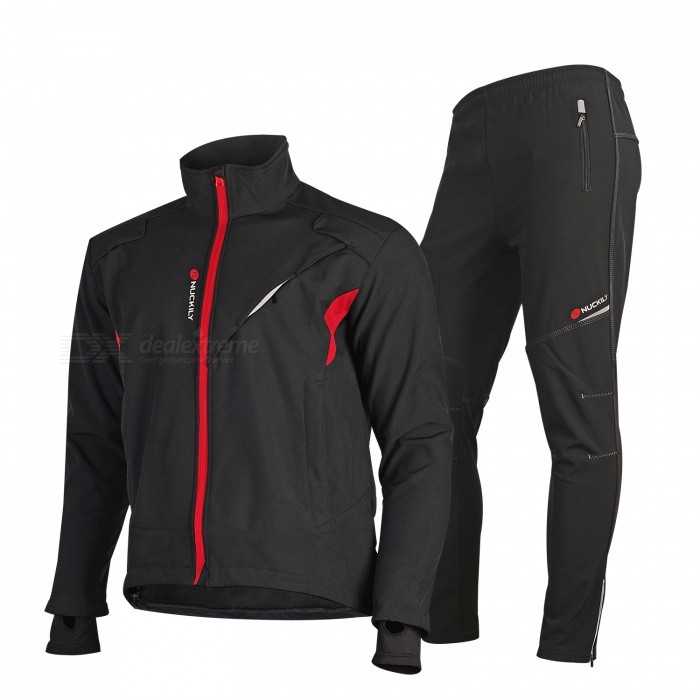 NUCKILY ME019MF019 Cycling Jersey Trousers Pants Set Windproof Fleece Thick Warm Sportswear for Winter - Black (L)Form  ColorBlackSizeLModelME019MF019Quantity1 DX.PCM.Model.AttributeModel.UnitMaterial93% Polyester + 7% SpandexGenderUnisexSeasonsAutumn and WinterShoulder Width48.8 DX.PCM.Model.AttributeModel.UnitChest Girth116 DX.PCM.Model.AttributeModel.UnitSleeve Length64.5 DX.PCM.Model.AttributeModel.UnitTotal Length68 DX.PCM.Model.AttributeModel.UnitWaist68 DX.PCM.Model.AttributeModel.UnitHip Girth108 DX.PCM.Model.AttributeModel.UnitTotal Length103 DX.PCM.Model.AttributeModel.UnitThigh Girth65.5 DX.PCM.Model.AttributeModel.UnitCrotch Length29.5 DX.PCM.Model.AttributeModel.UnitLength Of Hem32 DX.PCM.Model.AttributeModel.UnitSuitable for Height170-175 DX.PCM.Model.AttributeModel.UnitBest UseCycling,Mountain Cycling,Recreational Cycling,Road Cycling,Triathlon,Bike commuting &amp; touringSuitable forAdultsTypeLong Pants,Long JerseysPacking List1 x Jersey1 x Pants<br>