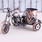 Wrought Iron Motorcycle Model Pen Holder for Home Decoration, Students Gift