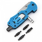 CTSmart Outdoor Camping Rescue Survival Multi Tool Toothed Folding Knife - Blue