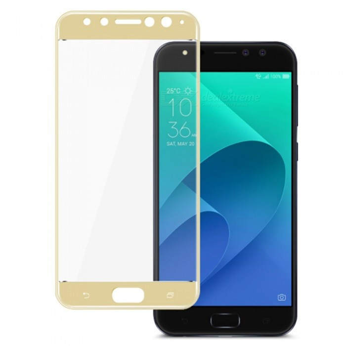 Naxtop Tempered Glass Full Screen Protector for Asus ZenFone 4 Selfie Pro ZD552KL - GoldenScreen Protectors<br>Form  ColorGoldenScreen TypeGlossyModelN/AMaterialTempered GlassQuantity1 pieceCompatible ModelsAsus ZenFone 4 Selfie Pro ZD552KLFeatures2.5D,Fingerprint-proof,Scratch-proof,Tempered glassPacking List1 x Tempered glass film1 x Wet wipe1 x Dry wipe1 x Dust absorber<br>