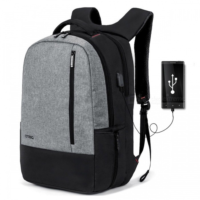 DTBG Business Laptop Backpack with USB Charging Port for  Laptop Notebook Tablet PC, Fit Up To 17.3 Inches