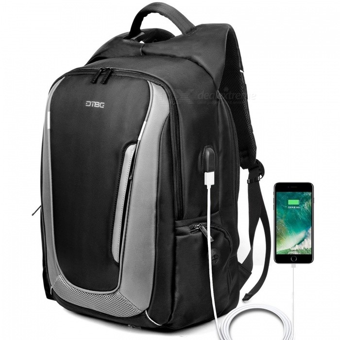 DTBG 17.3 Inches Laptop Backpack with USB Charging Port Travel Day Pack Multi-functional Rucksack for Men Women - BlackBags and Pouches<br>Form  ColorBlack (17.3)ModelD8205WQuantity1 pieceShade Of ColorBlackMaterialNylonCompatible Size17.3 inchTypeBackpacks,Tote BagsPacking List1 x Backpack<br>