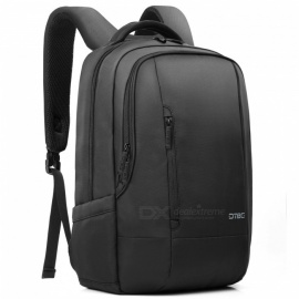 DTBG Nylon Water Resistant Business Backpack for 17.3 Inches Laptop - Black