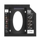 """Kitbon Aluminum 9.5mm 2nd 2.5"""" Hard Disk Drive Caddy Case Adapter for Universal Laptop CD / DVD-ROM Optical Bay"""