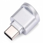 Mini Portable Type-C USB Interface Micro SD Card Reader, OTG Adapter - Silver (2 PCS)