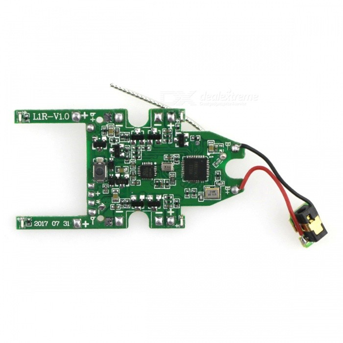 JJRC H49-08 SOL Spare Parts Receiver Board for JJRC H49 SOL RC QuadcopterForm  ColorGrass GreenModelH49-08MaterialABSQuantity1 setCompatible ModelH49WHCertificationCEPacking List1 x Receiver Board<br>