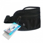 Outdoor Sports Running Portable Nylon Waist Bag for Cell Phone, Wallet, Cards and Other Small Items - Black