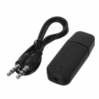 Kitbon USB Wireless Bluetooth Audio Music Receiver Adapter Car Kit with 3.5mm Stereo Output - Black