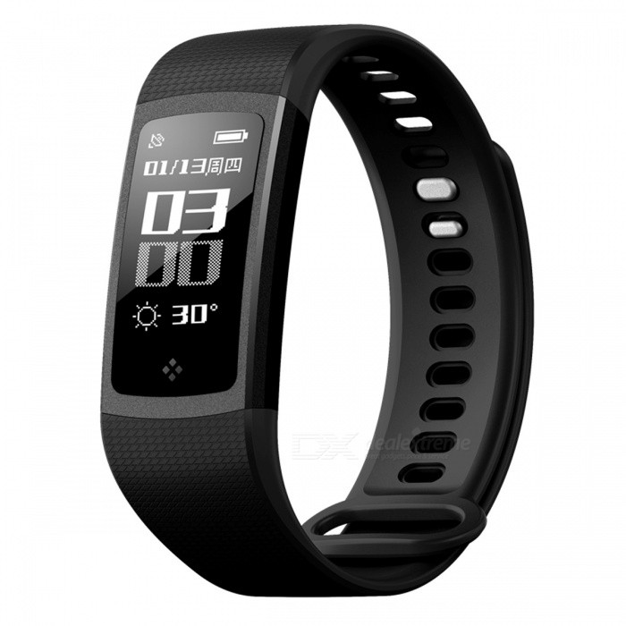 S8 Bluetooth V4.0 Sport Smart Bracelet with Step Counter, Heart Rate, Blood Pressure Monitor - Black