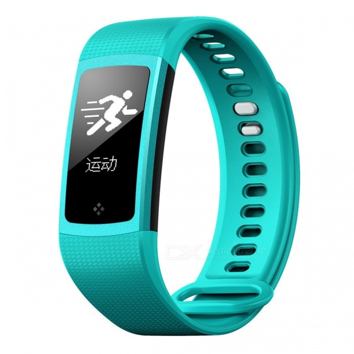 S8 Bluetooth V4.0 Sport Smart Bracelet with Step Counter, Heart Rate, Blood Pressure Monitor - Blue-GreenSmart Bracelets<br>Form  ColorBlue-Green + BlackModelS8Quantity1 pieceMaterialPlasticShade Of ColorBlueWater-proofIP67Bluetooth VersionBluetooth V4.0Touch Screen TypeYesOperating SystemNoCompatible OSAndroid4.0 (contain), IOS7.0 contain) aboveBattery Capacity80 mAhBattery TypeLi-polymer batteryStandby Time7 daysPacking List1 x Smart Bracelet 1 x Manual<br>