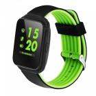 "Z40 1.5"" 240x240 IPS Bluetooth V4.0 Metal Electroplating Smart Watch - Black + Green"