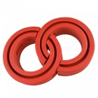 Type-A Red Car Rubber Shock Absorber Spring Bumper Buffer Power Cushion - 2PCS