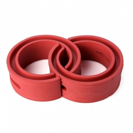 Type-E Red Car Rubber Shock Absorber Spring Bumper Buffer Power Cushion - 2PCS