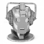DIY Puzzle, 3D Stainless Steel Metal Space Human Head Assembled Model Toy, Creative Gift - Silver