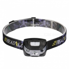 ZHAOYAO Mini Waterproof Cree XPE USB Charging 4-Mode Headlamp with USB Cable - Black