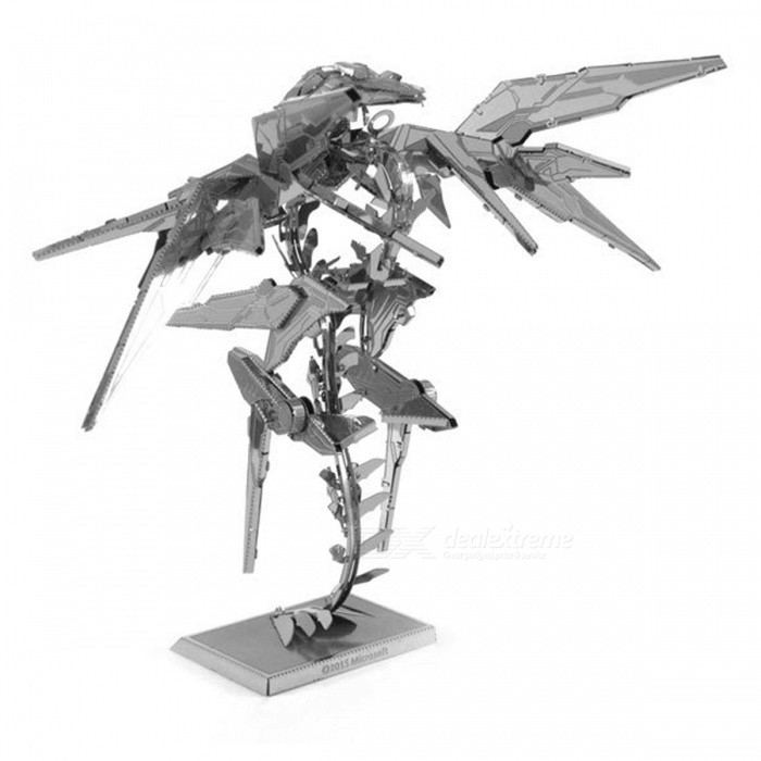 Diy puzzle 3d stainless steel metal game halo bird for 3d home decoration games