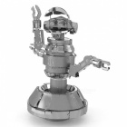 Star Wars 3D Puzzle, DIY Stainless Steel Metal Flying Robot Assembled Model Educational Toy - Silver