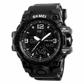 SKMEI 1155B 50M Waterproof Multifunction Sports Watch - Black