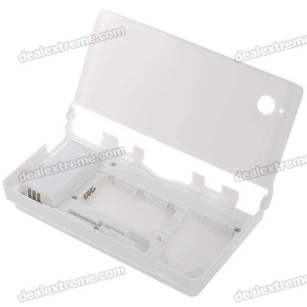Protective PC Case with 5400mAh Rechargeable Lithium Battery & Stylus for NDSi (White)