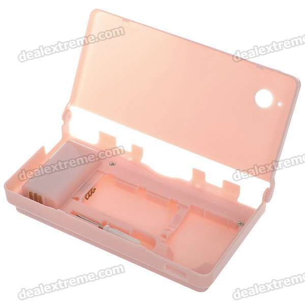 Protective PC Case with 5400mAh Rechargeable Lithium Battery & Stylus for NDSi (Pink)