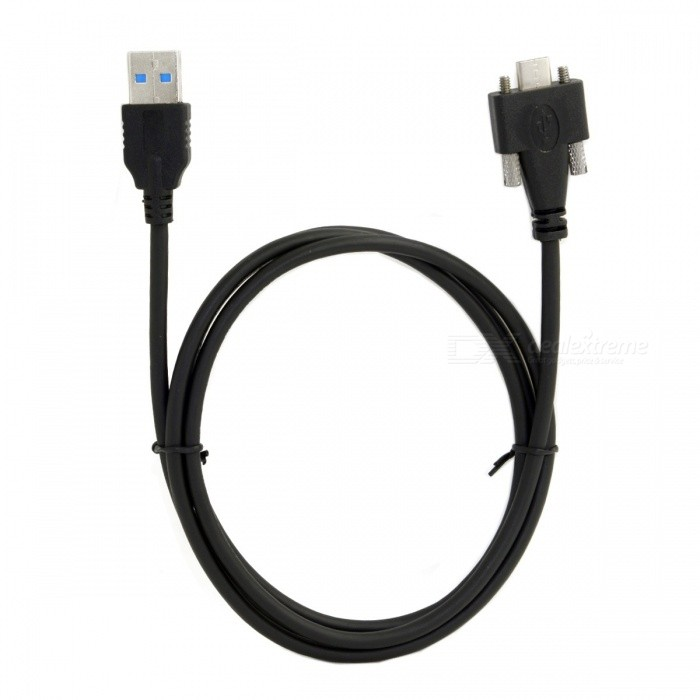 CY UC-048-1.2M USB 3.1 Type-C Cable Dual Screw LockingLaptop/Tablet Cable&amp;Adapters<br>Form  ColorBlackModelUC-048-1.2MQuantity1 DX.PCM.Model.AttributeModel.UnitShade Of ColorBlackMaterialPVCInterfaceOthersPacking List1 x Cable<br>