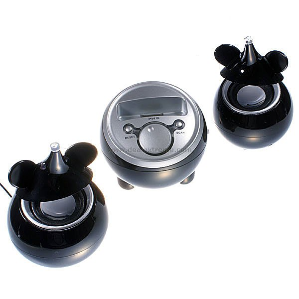 Black Mice Docking Speaker System for Ipod