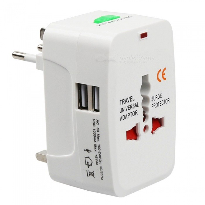 Universal international travel socket usb power charger