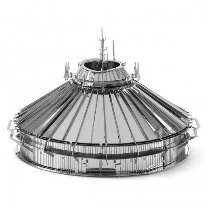 DIY Puzzle, 3D Stainless Steel Metal Creative Gift Buildings Disney Space Mountain Assembled Model Educational Toy - SilverBlocks &amp; Jigsaw Toys<br>Form  ColorSilverMaterialStainless steelQuantity1 setNumber2Size7cm*7cm*4cmSuitable Age 8-11 years,12-15 years,Grown upsPacking List2 x Model boards<br>