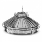 DIY Puzzle, 3D Stainless Steel Metal Creative Gift Buildings Disney Space Mountain Assembled Model Educational Toy - Silver