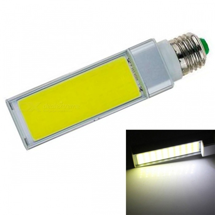 JRLED E27 9W Cold White COB LED Horizontal Plug Lamp with No Flicker (AC 85-265V)E27<br>Color BIN9W Cold WhiteModelN/AMaterialAluminum alloy + silica gelForm  ColorSilver + YellowQuantity1 DX.PCM.Model.AttributeModel.UnitPower9WRated VoltageAC 85-265 DX.PCM.Model.AttributeModel.UnitConnector TypeE27Chip BrandEpistarChip TypeN/AEmitter TypeCOBTotal Emitters1Theoretical Lumens1000 DX.PCM.Model.AttributeModel.UnitActual Lumens900 DX.PCM.Model.AttributeModel.UnitColor Temperature6000KDimmableNoBeam Angle140 DX.PCM.Model.AttributeModel.UnitWavelengthN/ACertificationCE ROHSOther FeaturesThis product is used as the light source COB light source with high brightness, low heat, light, not dazzling light uniformity and other benefits, driven by a wide voltage constant current universal voltage, no flicker, the shell is made of one high conductivity Aluminum Alloy heat dissipation, reliable quality, are exported to the world.Packing List1 x E27 COB LED Bulb<br>